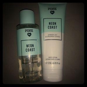 PINK Victoria's Secret Neon Coast Fragrance Mist